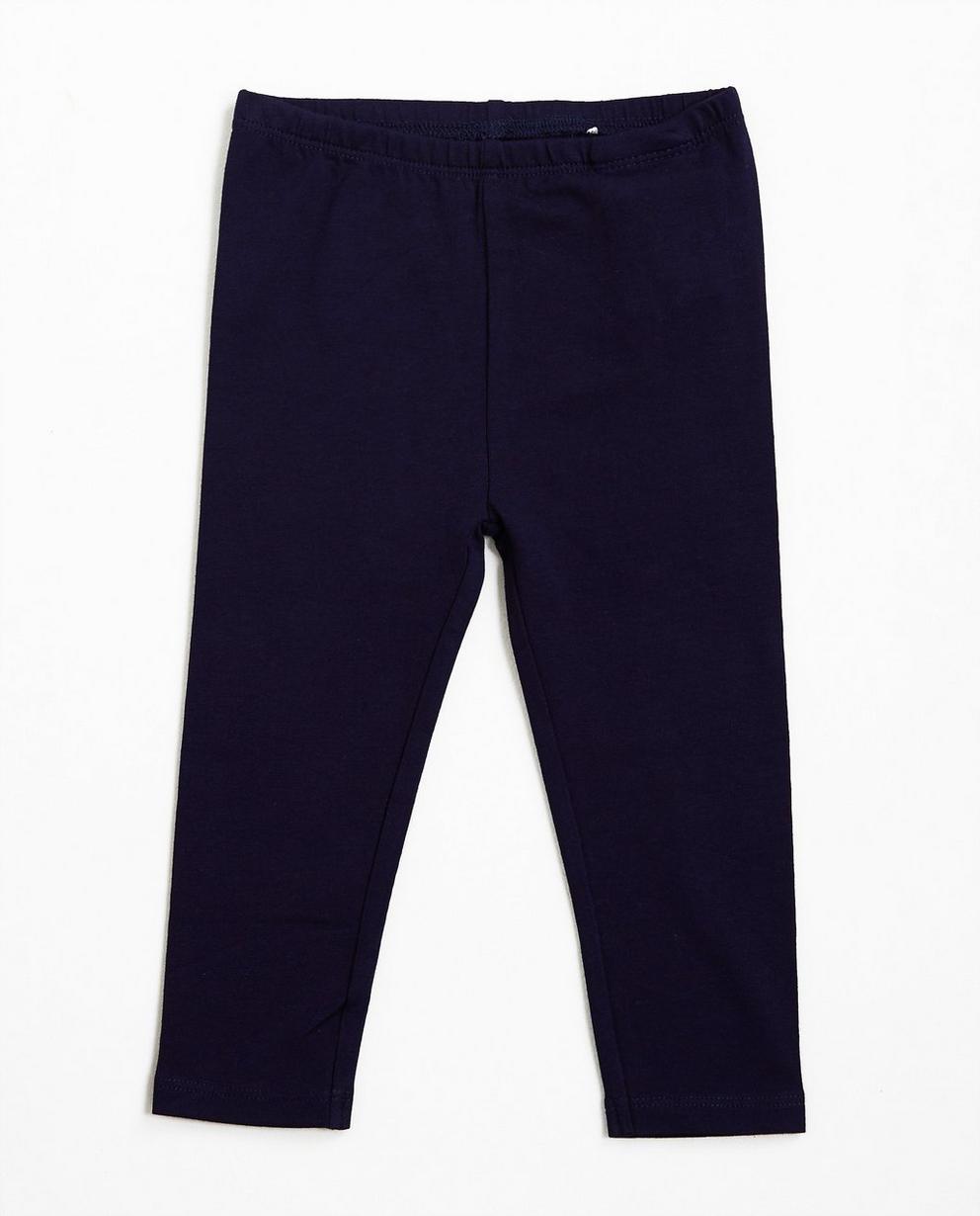 Leggings en coton bio - bleu nuit - JBC